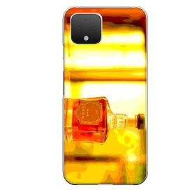 Google Pixel 4専用 ウイスキーボトル ウヰスキー whisky お酒 飲み物 ドリンク リアル おしゃれ 油彩 アルコール 橙色 お洒落なBAR
