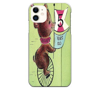 iPhone 11専用スマホケース 5歳 誕生日 熊 クマ 一輪車 かわいい パーティーハット