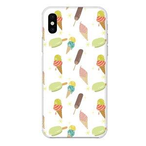 iPhone XS専用スマホケース アイスクリーム キャンディー ソフトクリーム コーン カラフル キラキラ