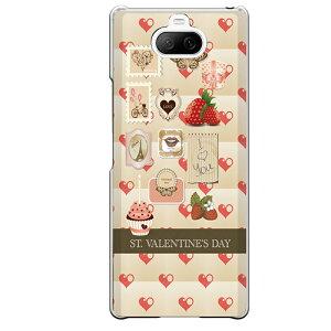 Xperia 8専用 バレンタインデー Valentine's day ハート 苺 切手 ガーリー バレンタイン SO-02M SOV42 902SO