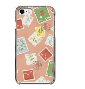 アンティーク調 切手 レトロ ピンク 桃色 かわいい 手紙 おしゃれ 多機種対応スマホケース