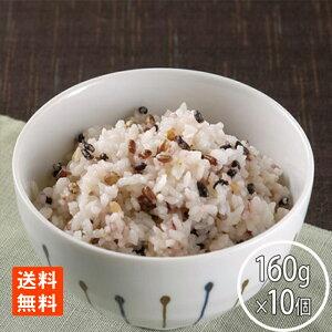 たかの マンナンヒカリ雑穀ごはん160g×10 レトルトごはん レトルト食品 米 雑穀米 送料無料
