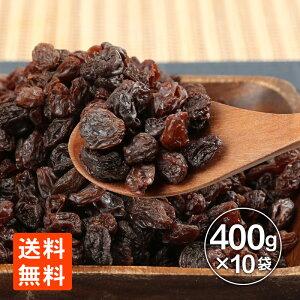 レーズン ドライフルーツ ノンオイル レーズン 400g業務用 ×10袋 送料無料 メガ盛り お買い得 世界の珍味 グルメール SEKAINOCHINMI