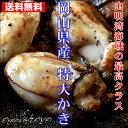 岡山県産 特大かき 超希少3L 2Kg (1Kgx2袋 解凍後1袋800g/25粒前後) 牡蠣 冷凍 カキ かき 無添加食品 高級 ギフト お…
