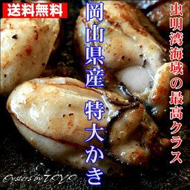 岡山県産 特大かき 超希少3L 2Kg (1Kgx2袋 解凍後1袋800g/25粒前後) カキ 牡蠣 かき 無添加食品 高級 ギフト お取り寄せ おつまみ 送料無料 ※冷凍保存2ヶ月以上