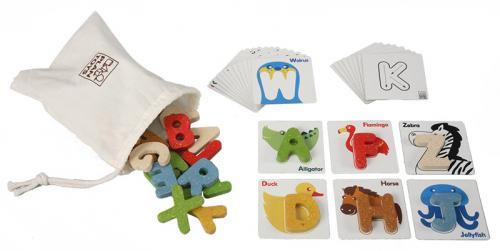 【送料無料】 あす楽対応 PLANTOYS(プラントイ) 木製知育玩具 アルファベット A-Z(幼児英語教材)