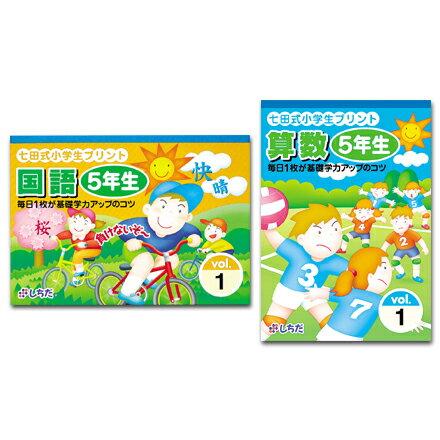 【送料無料】 ポイント8倍 七田式 小学生プリント 5年生 国語・算数