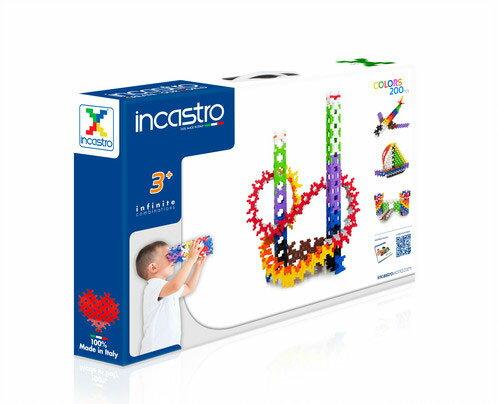 【送料無料】 イタリア生まれの知育ブロック 「 Incastro ( インカストロ ) 」 BOX200 200ピース入り