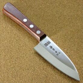 関の刃物 小出刃包丁 9.5cm (95mm) 十三秀 特製 6A モリブデンステンレス 赤合板ハンドル 小ぶりの出刃で 魚の身を細かくおろすときなどに使用 右利き用片刃包丁 国産日本製 在庫処分品 訳あり