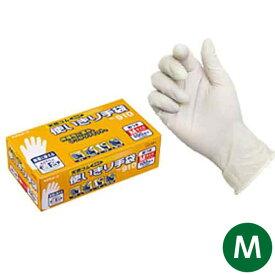 【即日出荷】エステー 天然ゴム使いきり手袋 粉つき 100枚入(箱) 910 M 作業用手袋