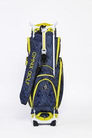 オムニックスゴルフ キャディーバッグ ブルー×イエロ OCCA0103WN