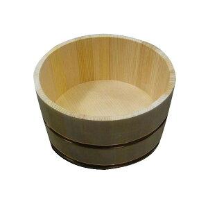 サワラ湯桶 丸 日本製 ( 国産さわら/銅タガ )【星野工業 椹 さわら 天然木 湯おけ ゆおけ 風呂桶】