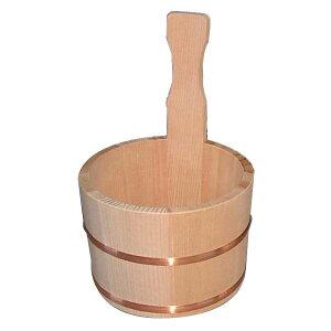 サワラ 片手桶 (国産さわら/銅タガ)【星野工業 椹 天然木 湯おけ ゆおけ 片手桶 風呂桶】 日本製