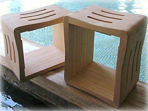国産桧のたてよこフロイス     【檜 ひのき 木製品 風呂椅子 ふろいす 日本製】