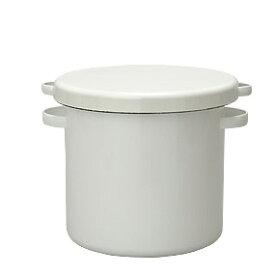 【即納】 ラウンドストッカー 21cm WRS-21 野田琺瑯 【ホーロー ぬか漬け容器 漬物容器 味噌桶】