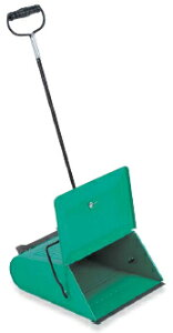 テラモト 文化チリトリ 緑 DP-463-000-0 【業務用 チリトリ ちりとり 蓋付 ちり取り レトロ】