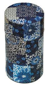 茶筒 和紙茶筒 ぽッ・かん 和柄 (金銀 黒紺) L / 791934 /日本製 美濃和紙 和柄 和風 茶缶 お茶っ葉入れ 茶葉 紅茶 緑茶 コーヒー豆 ヤマコー てまひま工房