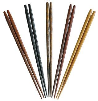 彩手木素材箸鉄刀木《83399》 ※变成图片的右端的东西。 YAMAKO yobi