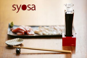 syosa 醤油さし【大スタンド 朱漆仕上げ】醤油差し ガラス