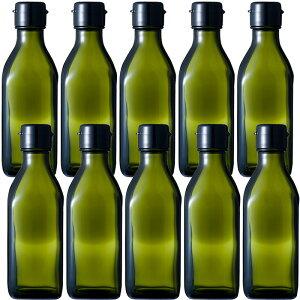 ガラス瓶 ドレッシング・タレ瓶 調味200角-HC-DS 200ml -10本セット- sauce bottle