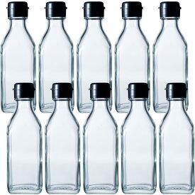 お得10本セット!ドレッシング・タレ瓶 角びん 200ml 調味200角 HC-F 10本セット 調味料びん/ガラス瓶 sauce bottle