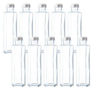 ハーバリウム 瓶 ガラス瓶 六角形 164ml SSF-150A 10本 セット キャップ付き 花材 資材 ボトル フラワー 透明瓶 ビン