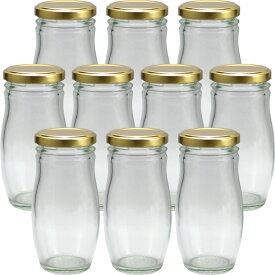 ガラス瓶 蓋付 スイーツ瓶 ガラス保存容器 HANA140ST 158ml -10本セット-jar