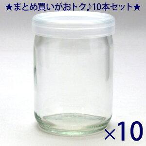 ガラス瓶 蓋付 プリン・ヨーグルト瓶 ワンカップ100 100ml 53PE CAP -10本セット- jar