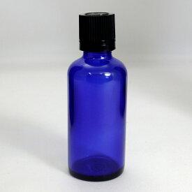 遮光ビン 遮光瓶 ブルー TBG-50 50ml blue glass essential oil bottle