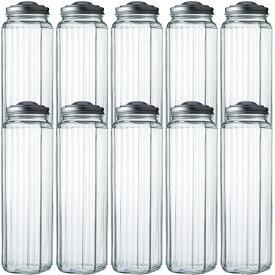 ガラス保存容器 保存瓶 パスタ保存びんCAP付 -10本セット- pasta storage container