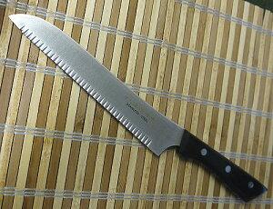 津保吉金最高級本職用 チーズ切り包丁175mm ステンレス 黒合板