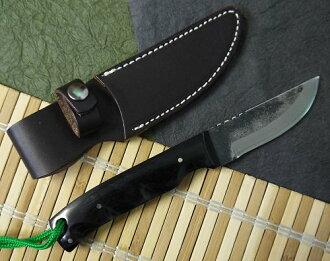 义 (好) e-1 叶片长度: 70 毫米日式黑色挥刀 wazamono 鞘日本钢蓝色纸 2 号