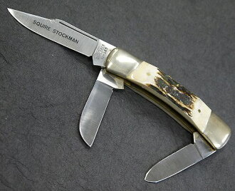 资源管理器中乡绅饲养员雄鹿 3刀刀折叠刀日本 440 不锈钢鹿角柄