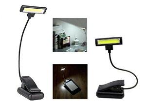COB Clip Lightクリップライト明るさ3段階単4電池×3本使用JY-1188【SYB-D】