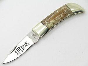IPCOヴィンテージ440ステンレス ボーンハンドルダブルヒルトフォールディングナイフ日本製【54-F-10017108】