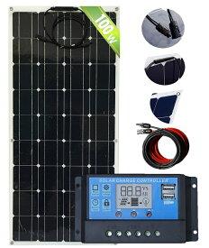 フレキソーラーキット単結晶高性能100Wフレキシブル車に、船に、農業に新型曲板ソーラーアウトドア、非常用、船、農業用、電柵用、強力パネル太陽光発電
