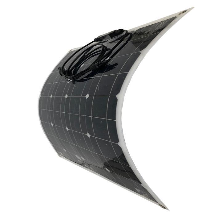 「購入後、安心、修理できる専門店」フレキシブル曲面可能ソーラーパネル50W12V!欧州・アメリカ実績No1 高品質強力&曲面OKで車体・船等どこでも発電 【専門家無料サポート】