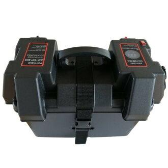 バッテリーを入れるだけで家庭用ポータブル電源に!SEKIYAバッテリーNINBOX簡単接続で誰でもオフグリッドシステムが作れるDC12V外端子USB出力バッテリー容量表示付12VソケットUSB出力