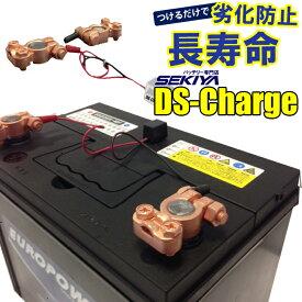 SEKIYA バッテリー 自動再生 超小型パルス DS Charger バッテリー交換不要 バッテリーにつけるだけで 寿命が2倍3倍! DSチャージャー 宮崎県ものづくり大賞受賞