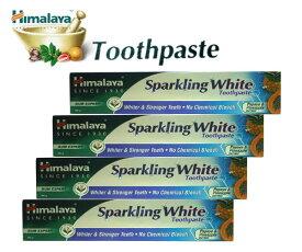 ヒマラヤ トゥースペイスト スパークリング ホワイト80g4本セット(歯磨き粉) Himalaya Sparkling White Toothpaste 『150時間限定! ポイント最大44倍!お買い物マラソン』
