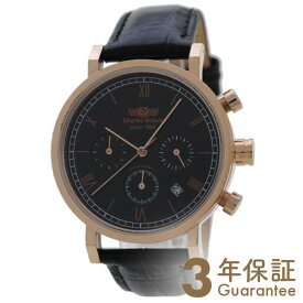 【店内最大ポイント37倍!30日限定!】 CharlesVogele [国内正規品] シャルルホーゲル ピンクゴールド×ブラック CV-9013-0 メンズ 腕時計 時計【あす楽】