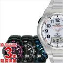 シチズン キュー&キュー Q&Q コンビネーション ソーラーメイト 電波ソーラー シルバー×ブラック MD02-202 [正規品] メンズ 腕時計 時計