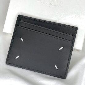 Maison Margiela メゾン・マルジェラ カードケース 4ステッチ カードホルダー パスケース メンズ ブラック BLACK 黒 レザー S35UI0432P0399 ギフト プレゼント【新着商品】【オススメ商品】