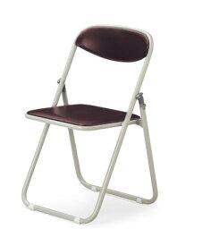 【6脚セット】【送料無料】折畳みパイプ椅子粉体塗装タイプスライド式ビニールレザー張り【カラー選べます】オフィス家具 会議 チェア/椅子ミーティング・会議・集会に最適