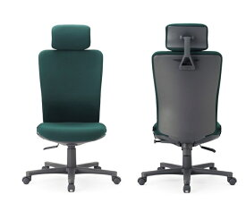 【送料無料】 オフィス家具オフィスチェア・肘無し【組立品】多機能チェア・ミーティングチェアチェア/椅子ヘッドレスト付きハイバック【素材・カラー選べます】