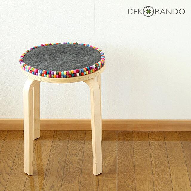 DEKO RANDO (デコランド) ラウンドマット/チェアシートマルチ D35cm