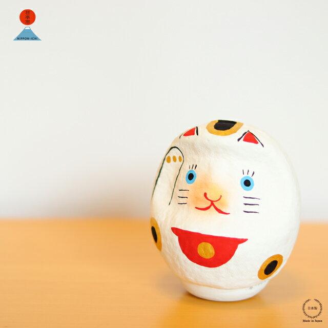 中川政七商店 <日本市> 招き猫だるま (高崎だるま 真下輝永)【置物 猫 縁起物】