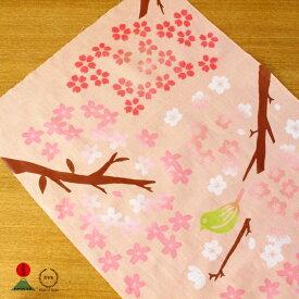 [ネコポスOK] 中川政七商店<日本一> 注染手拭い 見上げ桜【さくら てぬぐい 贈り物】