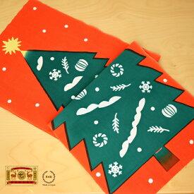 [ネコポスOK] 中川政七商店 注染手拭い クリスマスツリー 赤【クリスマス てぬぐい 贈り物 日本製】