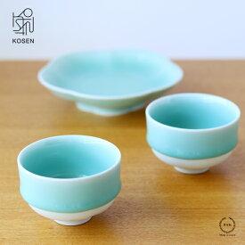 中川政七商店 鍋島 虎仙窯 鍋島青磁 煎茶碗(2個入)【湯呑 磁器 贈り物】